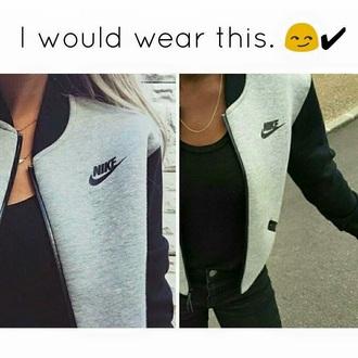 jacket grey black nike