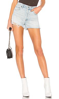 AGOLDE Jaden High Rise Shorts in Broken from Revolve.com