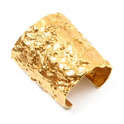 Foiled Gold Cuff by Ben-Amun | Charm & Chain