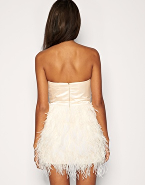 ASOS Petite | ASOS PETITE Exclusive Feather Corset Dress at ASOS