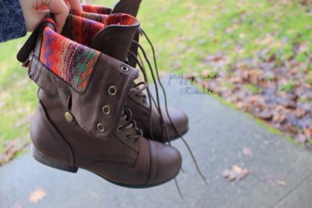 shoes boots booties brown shoes brown booties brown boots pattern aztec