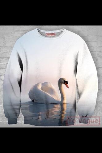 sweater clothes fashion style cool white top sweatshirt hoodie t-shirt shirt
