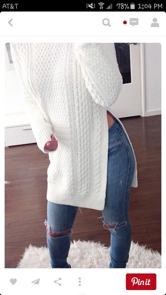 shirt white knit