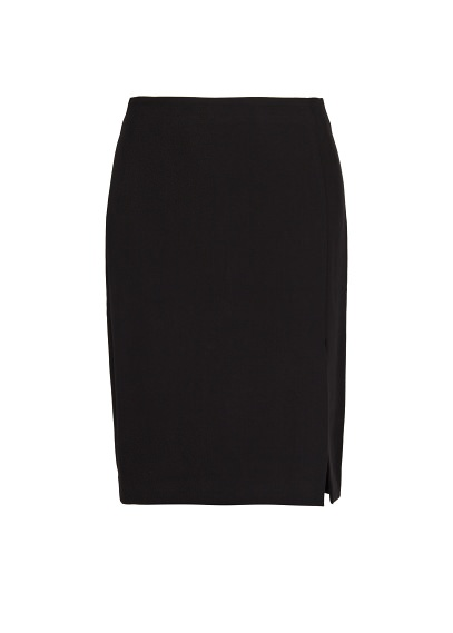 high-waist side slit skirt