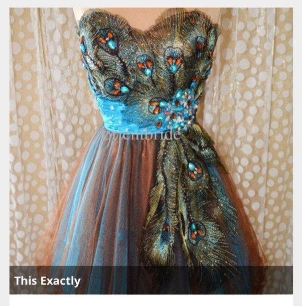 dress peacock multicolor