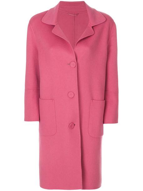 coat women wool purple pink