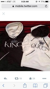 sweater,king and queen,couple sweaters,cute sweaters,t-shirt