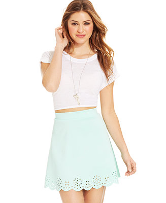 Stoosh juniors' cutout scuba skirt