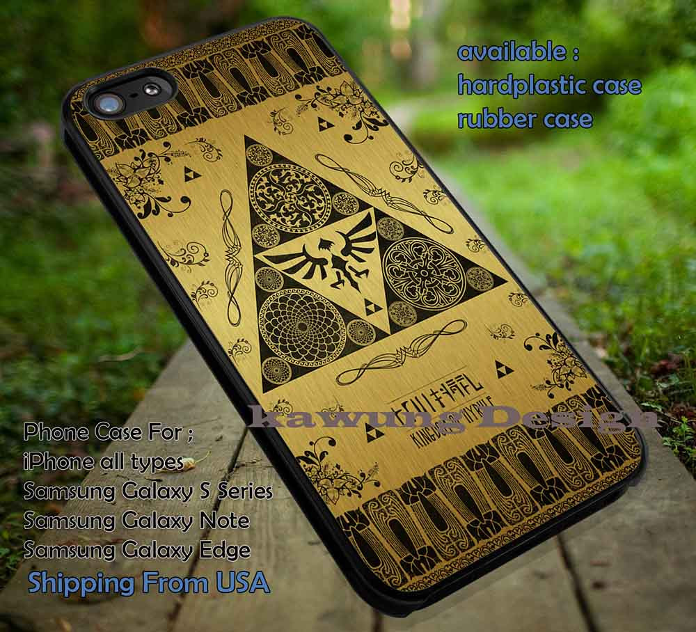 Triangle Symbol On Gold iPhone 6s 6 6s 5c 5s Cases Samsung Galaxy s5 s6  Edge NOTE 5 4 3 #cartoon #anime #TheLegendOfZelda #game DOP662