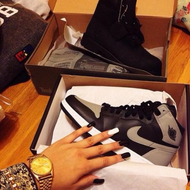 shoes nike nike dunk dunk grey black black shoes retro jordans jordan
