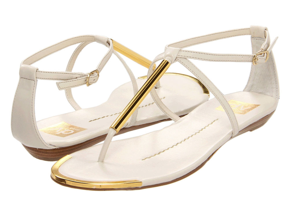 DV by Dolce Vita White Archer Sandals All Sizes | eBay