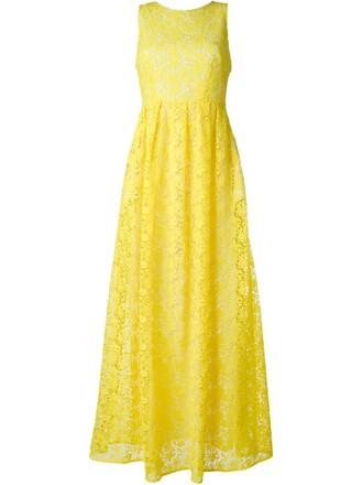 dress long dress long women embellished cotton yellow orange