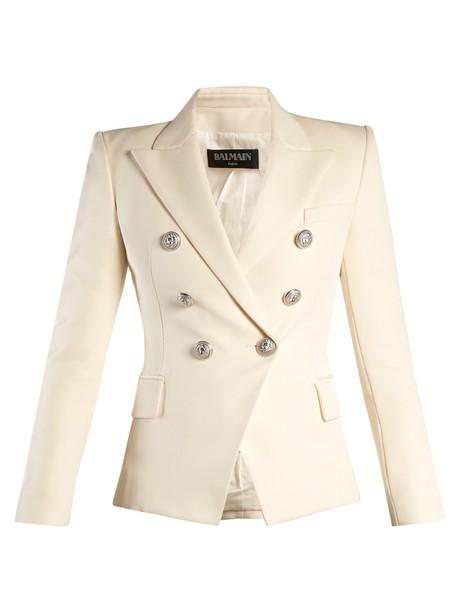 Balmain blazer white jacket