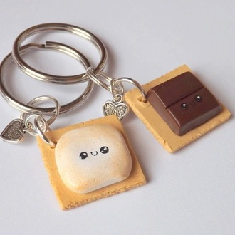 home accessory these key chains keychain food cute blouse
