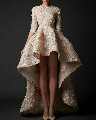 dress cream dress cream prom dress beautiful dress prom dress