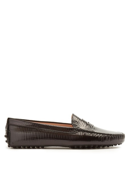 TOD'S loafers leather black shoes