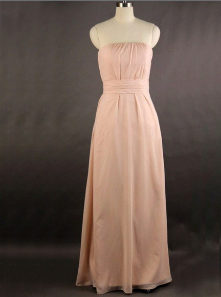 pink dress pearl pink bridesmaid dress strapless bridesmaid dresses