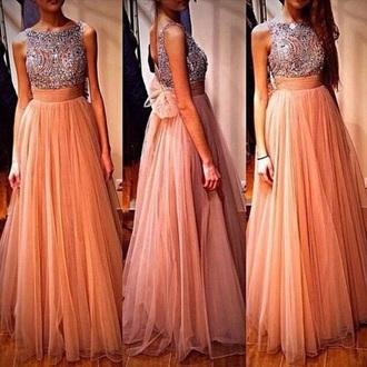dress gold prom dress evening dress