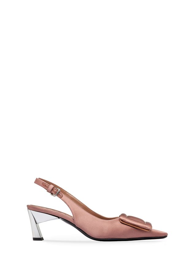 Satin Sandal With Ankle Strap  from the Marni Fall Winter 2018  collection | Marni Online Store