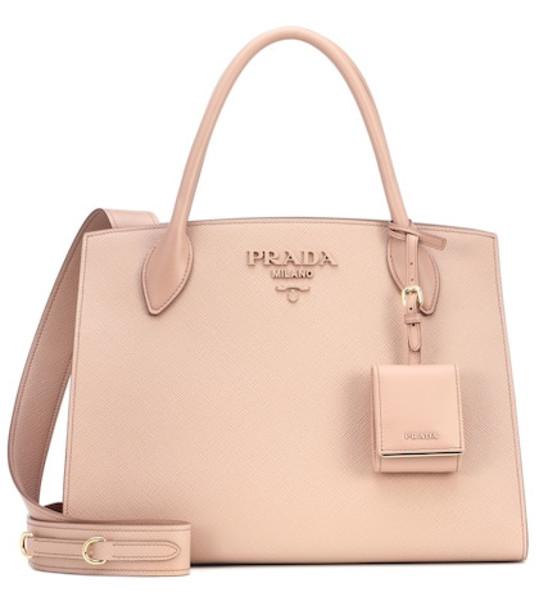 bag shoulder bag leather monochrome pink