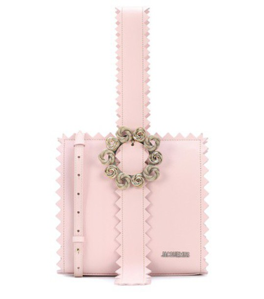Jacquemus leather clutch clutch leather pink bag