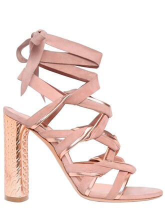 metallic sandals leather sandals leather suede rose gold rose gold nude shoes