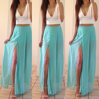 Light Blue Maxi Skirt - Shop for Light Blue Maxi Skirt on Wheretoget