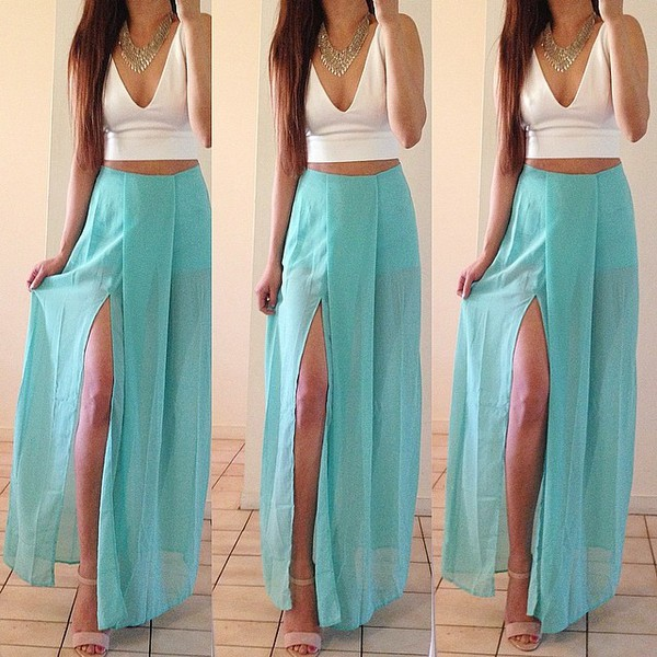 skirt light blue maxi dress