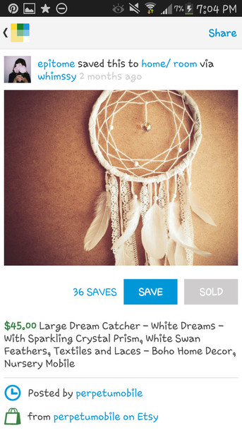jewels dreamcatcher white indian