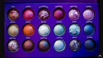 make-up palette colorful shimmering planets makeup palette outer space space galaxy