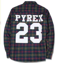 Online Shop PYREX 23 flannel shirt 2013 brand new california shirt style PYREX VISION Fashion loose men fashion boy london clothing Tee|Aliexpress Mobile