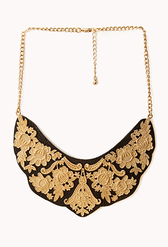 Edgy Faux Leather Bib Necklace | FOREVER21 - 1000128992