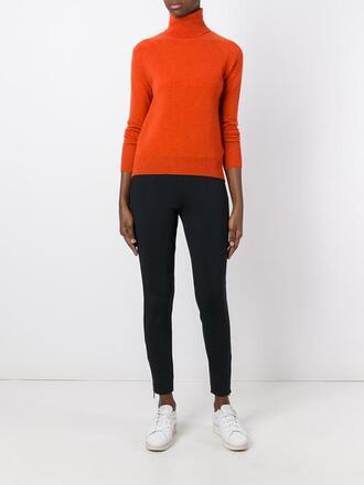 sweater turtleneck orange