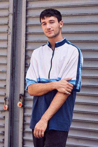 shirt white blue