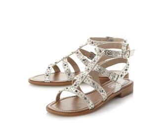 shoes sandals studded shoes gladiators metallic metallic shoes