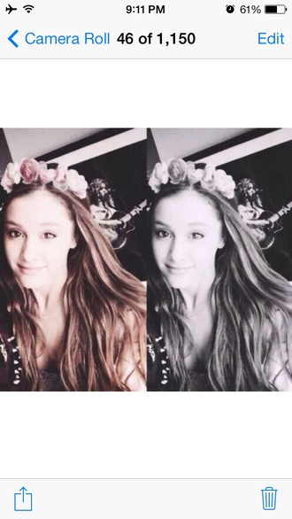 jewels ariana grande flower crown beautiful pretty hair idol hair accessory petals spring girly flower headband hairtie