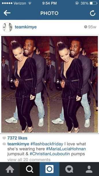 kim kardashian jumpsuit velvet