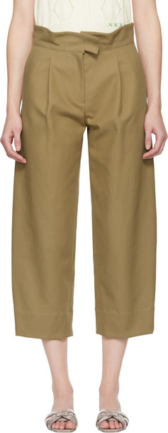 cropped beige pants