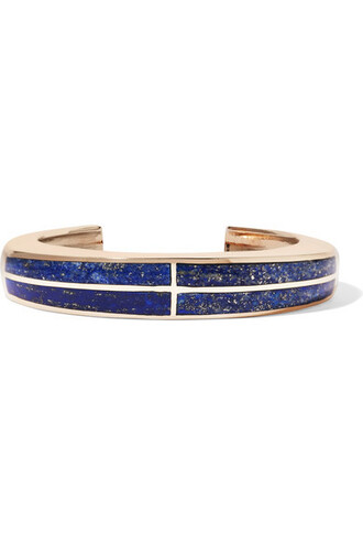 cuff cross gold blue jewels