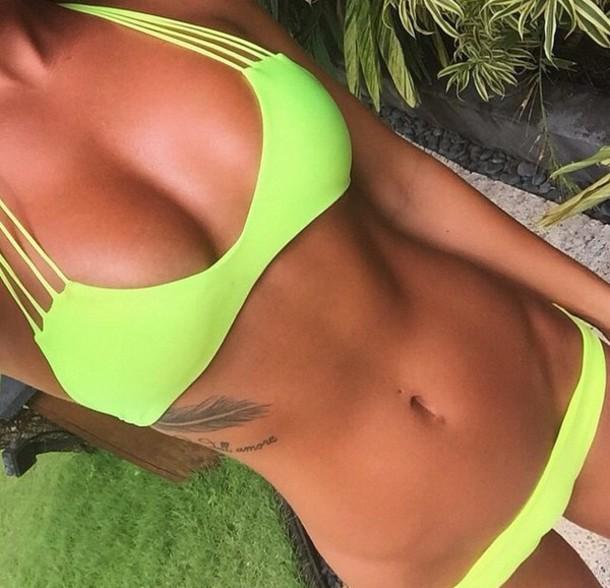 swimwear neon cut-out style