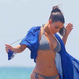 swimwear grey bikini kim kardashian keeping up with the kardashians