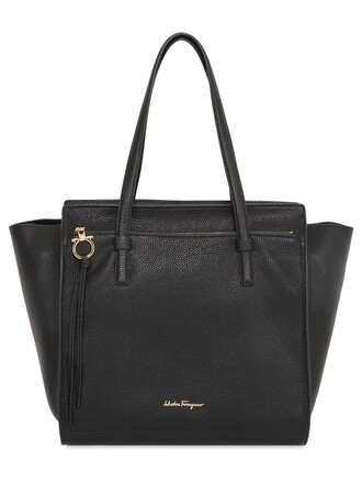 bag tote bag leather tote bag leather black