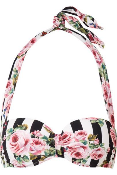 bikini bikini top pastel floral print pink pastel pink swimwear