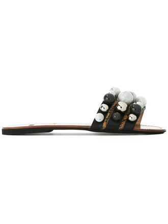 women plastic sandals leather black shoes