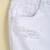 White Ripped Pockets Fringe Denim Skirt - Sheinside.com