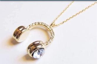 jewels necklace gold diamond necklace diamonds headphones headpiece chail gold necklace gold chain gold chain necklace jewelry
