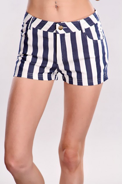White Striped Shorts / Sexy Clubwear | Party Dresses | Sexy Shoes ...