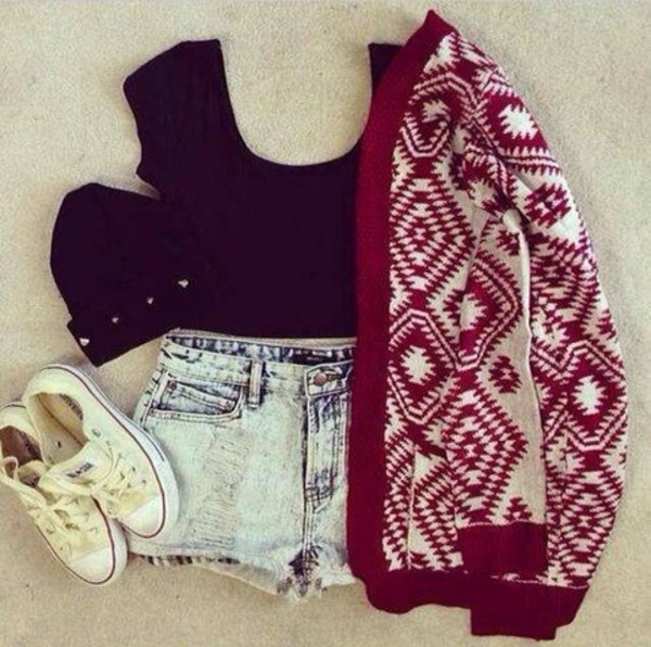 jacket hat shirt red jacket red white sweet chill amazing shorts sweater crop tops cardigan bennie aztec cardigan blouse