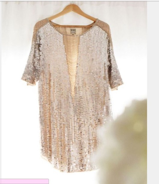 Dress sequin dress gold sequins gold party dress for Glitter new years dresses