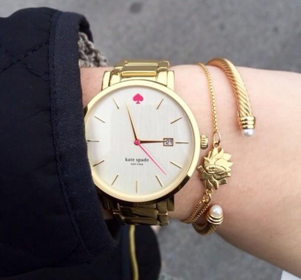 jewels watch gold bracelet bracelets kate spade